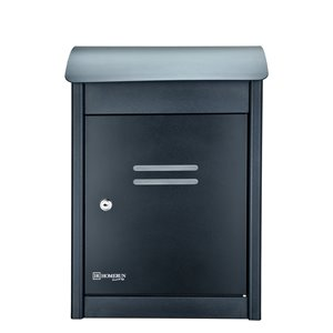 Homerun Smart & Safe 19.75-in x 9.5-in Black Wall Mounted Lockable Mail and Parcel Box