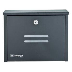 Homerun Smart & Safe 10-in x 4-in Black Wall Mounted Lockable Mailbox