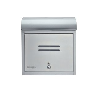 Homerun Smart & Safe 14.5-in x 4.75-in Stainless Steel Wall Mounted Lockable Front Opening Mailbox