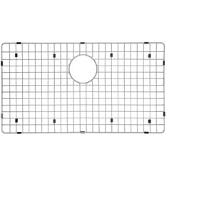 Grille d'évier en acier inoxydable poli Elegant par Elegant Stainless de 14,25 po x 22 po
