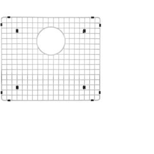 Grille d'évier en acier inoxydable poli Elegant par Elegant Stainless de 16,50 po x 15,75 po