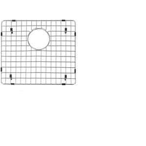 Grille d'évier en acier inoxydable poli Elegant par Elegant Stainless de 11,40 po x 14,60 po