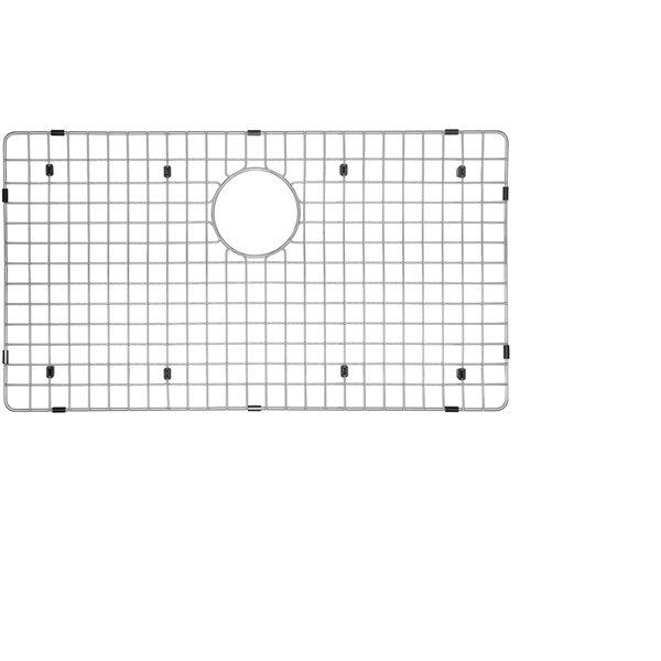 Grille d'évier en acier inoxydable poli Elegant par Elegant Stainless de 14,50 po x 24 po