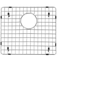 Grille d'évier en acier inoxydable poli Elegant par Elegant Stainless de 14,20 po x 12,50 po