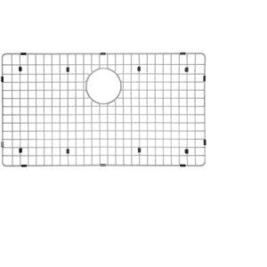Grille d'évier en acier inoxydable poli Elegant par Elegant Stainless de 16,75 po x 29,75 po