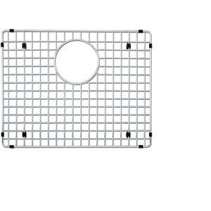 Grille d'évier en acier inoxydable poli Elegant par Elegant Stainless de 14,25 po x 19,50 po