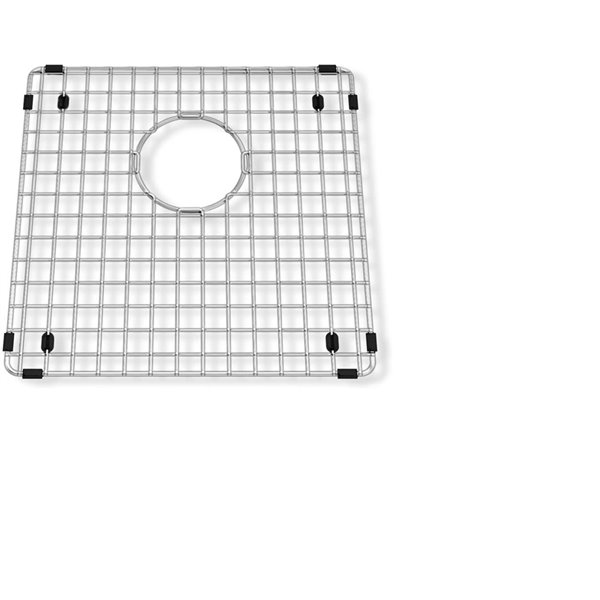 Grille d'évier en acier inoxydable poli Elegant par Elegant Stainless de 15,75 po x 13,40 po