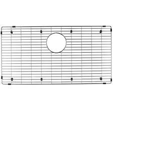 Grille d'évier en acier inoxydable poli Elegant par Elegant Stainless de 15,50 po x 28,50 po