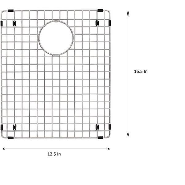 Grille d'évier en acier inoxydable poli Elegant par Elegant Stainless de 16,50 po x 12,50 po