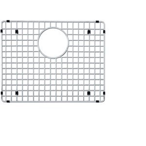 Grille d'évier en acier inoxydable poli Elegant par Elegant Stainless de 15,75 po x 14,17 po