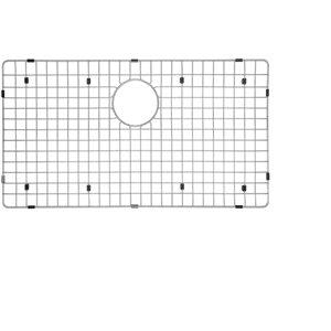 Grille d'évier en acier inoxydable poli Elegant par Elegant Stainless de 15,75 po x 29,50 po