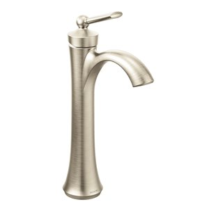 Robinet de lavabo Wynford à 1 poignée, 1 trou, WaterSense, nickel brossé, de Moen