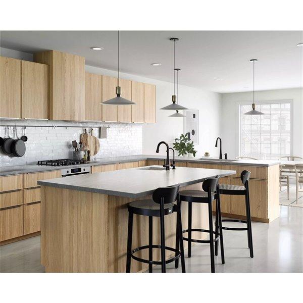Robinet de cuisine résidentiel Sleek à 1 poignée/levier par Moen en noir mat