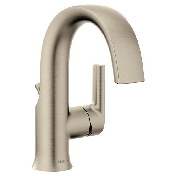 Robinet de lavabo Colinet à 1 poignée de Moen, 1 trou, WaterSense, or brossé (drain compris)