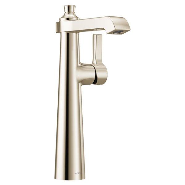 Robinet de lavabo Flara à 1 poignée de Moen, 1 trou, WaterSense, nickel poli