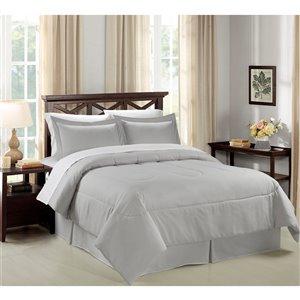Swift Home 8-piece Light Grey King Comforter Set