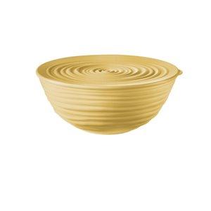 Bol Tierra avec couvercle jaune, moyen, par Guzzini