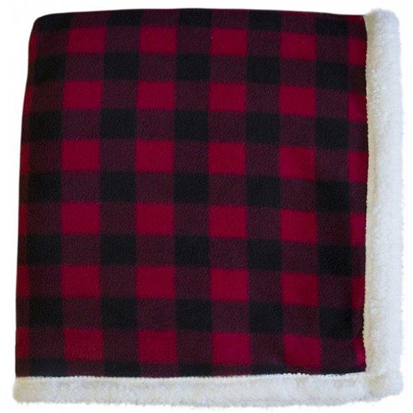 Couverture 50 po x 60 po en polyester rouge par Marin Collection