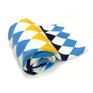 Myne 50-in x 60-in Blue Cotton Throw