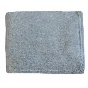 Couverture en polyester gris 43 po x 55 po par Marin Collection