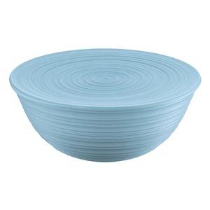 Bol Tierra avec couvercle bleu, très grand, par Guzzini