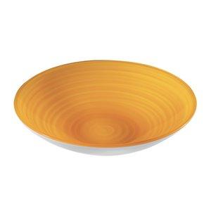 Bol Twist jaune, très grand, par Guzzini