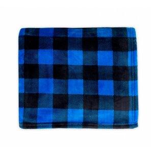 Couverture en polyester 60 po x 70 po, bleu, par Marin Collection