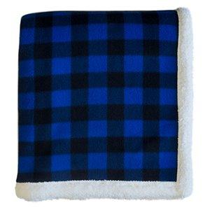 Couverture 60 po x 70 po en polyester bleu par Marin Collection