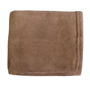 Couverture en polyester brun 43 po x 55 po par Marin Collection