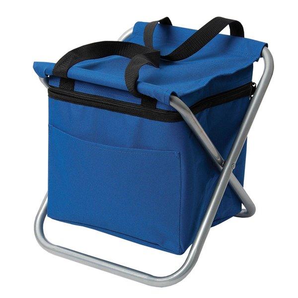 Glacière isotherme de type sac à dos/chaise pliante de Marin Collection, bleu