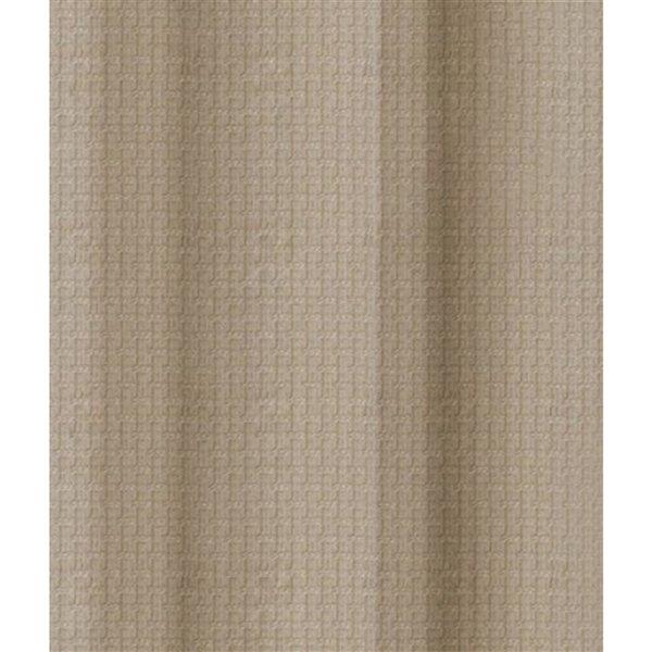 Panneau de rideau simple occultant taupe en polyester avec doublure thermique, 84 po, par Myne