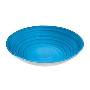 Bol Twist bleu, très grand, par Guzzini