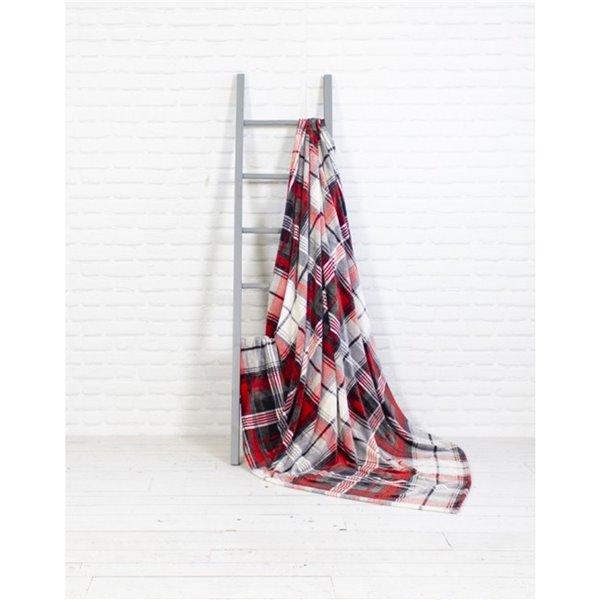 Couverture en polyester rouge 60 po x 70 po par Marin Collection