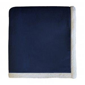 Couverture 50 po x 60 po en polyester bleu par Marin Collection
