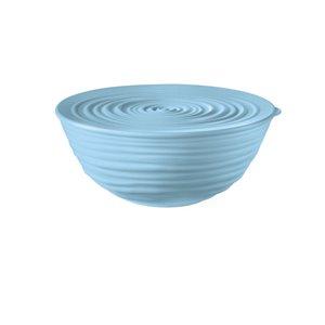 Bol Tierra avec couvercle bleu, moyen, par Guzzini