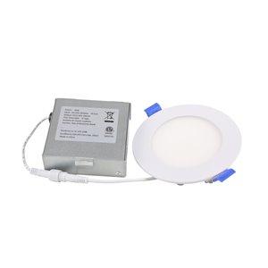 Éclairage encastré rond blanc à couleur réglable, équivalent de 60 watts, par Power Q