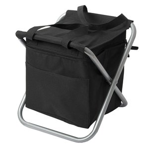 Glacière isotherme de type sac à dos/chaise pliante de Marin Collection, noir