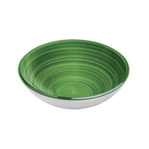 Bol Twist vert, moyen, par Guzzini