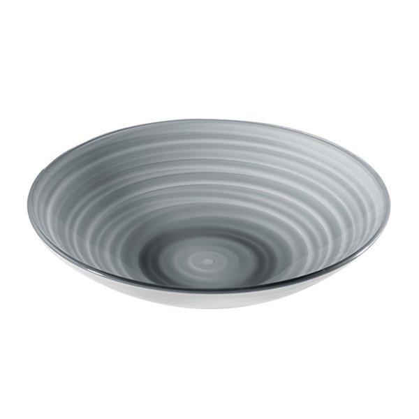 Bol Twist gris, très grand, par Guzzini