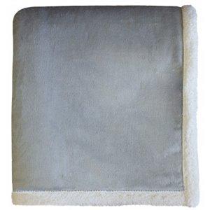 Couverture 50 po x 60 po en polyester gris par Marin Collection