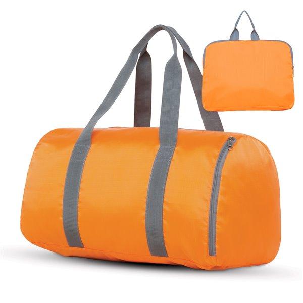 Sac de voyage orange 18 po x 10 po x 10 po, par Marin Collection