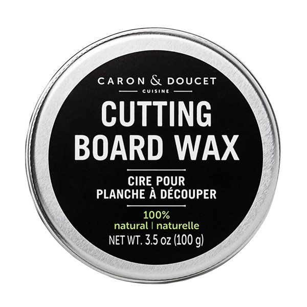 Ensemble d'huile, de cire et de savon pour planche à découper 100% naturel de Caron & Doucet, 3 pièces