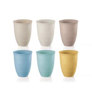 Guzzini Tierra Assorted Colours 17-fl oz. Plastic Tumbler Glasses - Set of 6