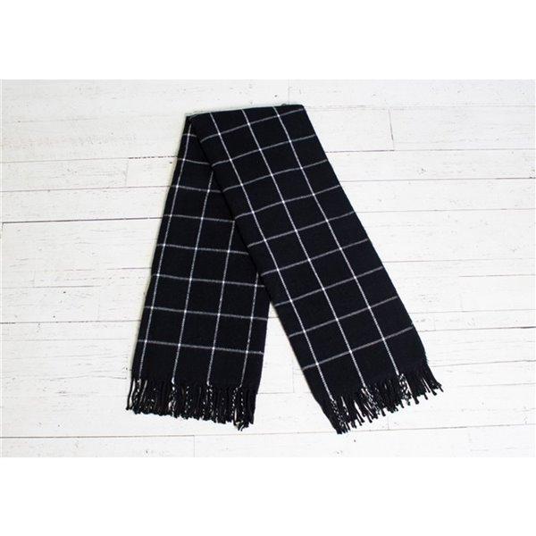 Couverture en acrylique noir 50 po x 70 po par Marin Collection