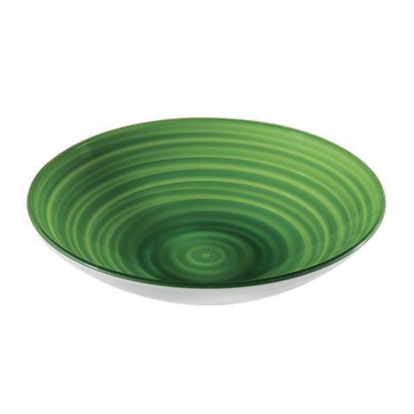 Bol Twist vert, très grand, par Guzzini