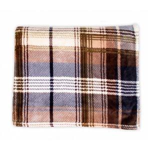 Couverture en polyester brun 60 po x 70 po par Marin Collection