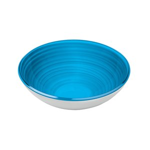 Bol Twist bleu, moyen, par Guzzini