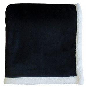 Couverture 50 po x 60 po en polyester noir par Marin Collection