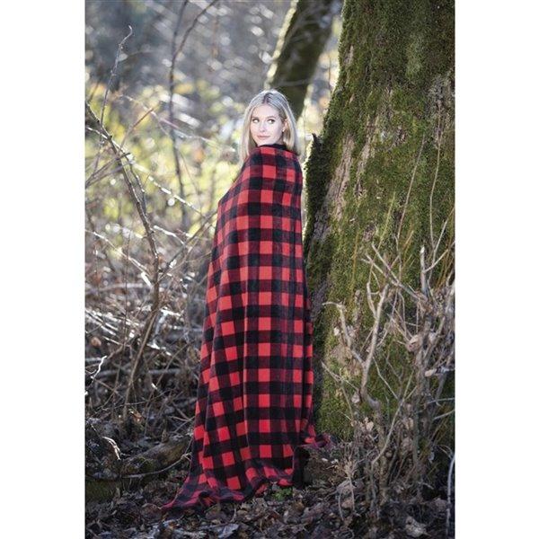 Couverture en polyester 60 po x 70 po,rouge, par Marin Collection