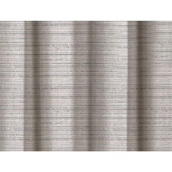 Panneau de rideau simple occultant argent en polyester avec doublure thermique, 84 po, par Myne